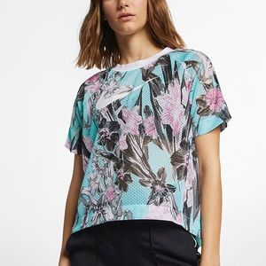 Nike Hyper Femme Pastel Tropical Perforated Top